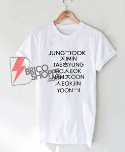 Jung Kook Korean Style Shirts T shirt unisex. Jung Kook Korean T-Shirt On Sale - K-Pop Shirt On Sale