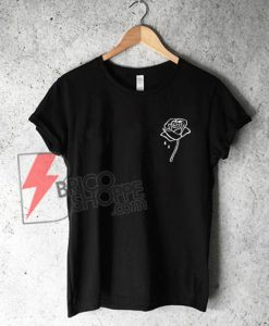 Rose Flower T-Shirt On Sale