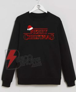 Stranger-Things---Merry-Christmas-Sweatshirt-On-Sale