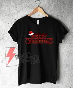 Stranger-Things---Merry-Christmas-T-Shirt-On-Sale