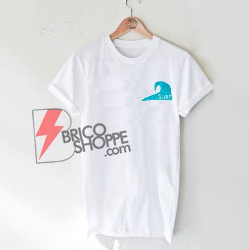 Surf Blue Wave T-Shirt On Sale