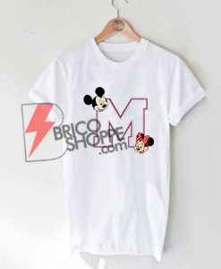 Mickey mouse & Minnie mouse logo T-Shirt On Sale