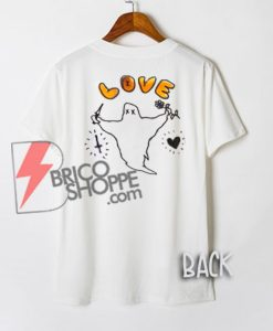 Ghost Love Flower and Knives - Funny Shirt On Sale