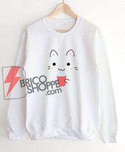 Kawaii-Cat-Sweatshirt-Sweatshirt---Funny-Sweatshirt-On-Sale
