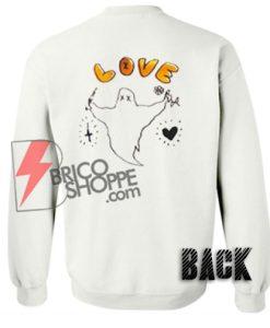Love-Ghost-flower-Sweatshirt-Back