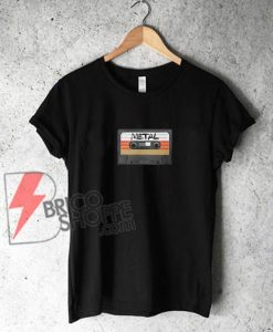 Metal Cassette Tape T-Shirt - Funny Metal Shirt