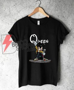 Queen Freddie mercury mickey mouse T-Shirt On Sale