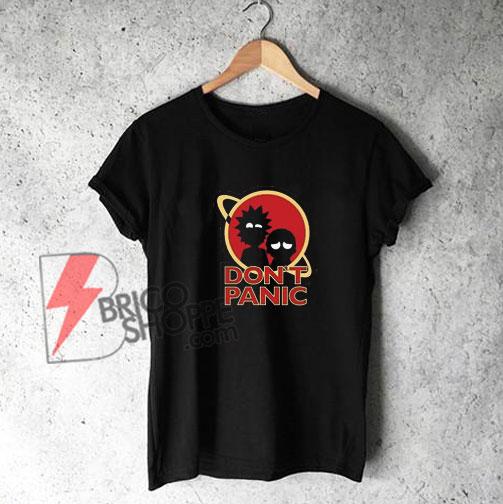 Rick-and-Morty-Don't-Panic-Shirt
