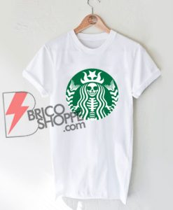 Starbucks Skeleton Funny T-Shirt On Sale