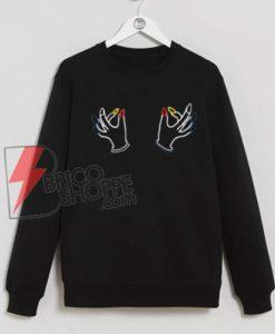 Twin-Hand-Boobs-Sweatshirts-On-Sale