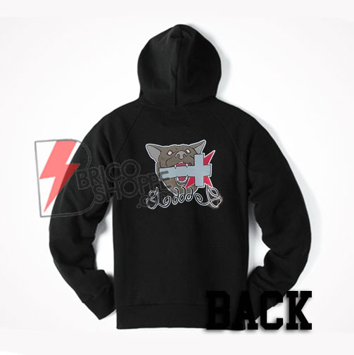Cross bite by the Dog Back Hoodie on Sale
