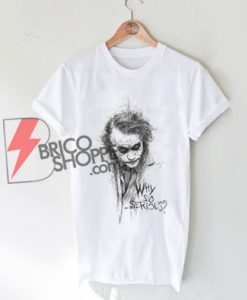 JOKER SKETCH T-shirt Gotham Retro Comic Why So Serious Shirt