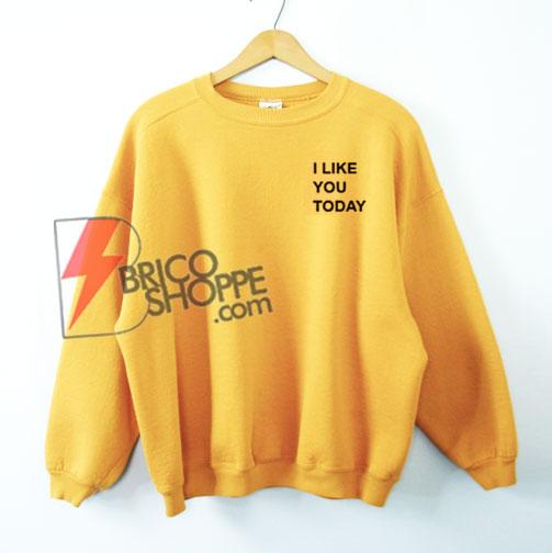 I Like You Today Sweatshirt On Sale - Funny's Sweatshirt
