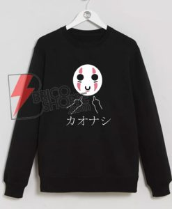 No-Face---Swearing-Middle-Finger---Studio-Ghibli-Spirited-Away---Kaonashi-Sweatshirt