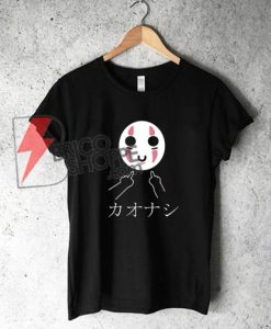 No-Face---Swearing-Middle-Finger---Studio-Ghibli-Spirited-Away---Kaonashi-T-Shirt---Funny's-Shirt-On-Sale