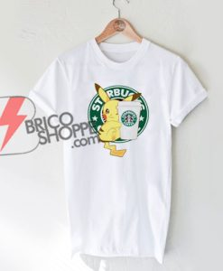 Starbucks-Coffee-Pikachu-Shirt---Funny-Pikachu-T-Shirt-On-Sale