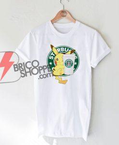 Starbucks-Coffee-Pikachu-Shirt---Funny-Pikachu-T-Shirt-On-Sale