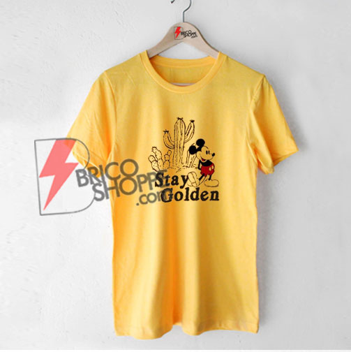 Stay Golden Mickey Mouse - Vintage Mickey Mouse Shirt - Vintage Disney Shirt