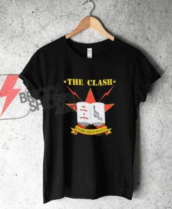 The Clash Shirt Vintage tshirt 1982 Know Your Rights Tour Joe Strummer Band Punk