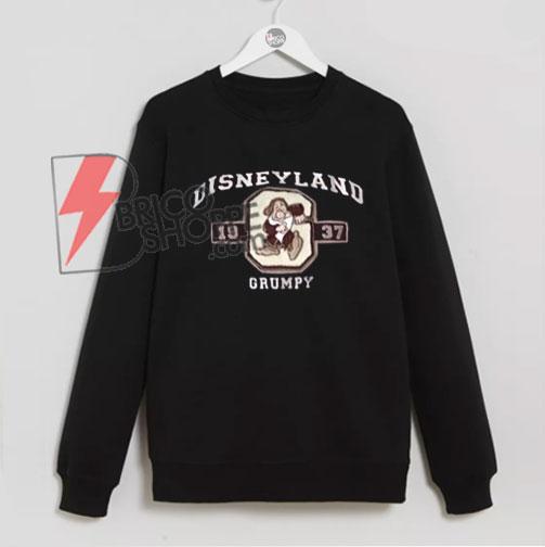 Vintage DISNEYLAND Grumpy 1937 Sweatshirt , Disney Sweatshirt , Grumpy  Sweatshirt , Disney Merchandise On Sale