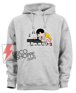 Freddie-Mercury-Playing-Piano-Queenuts-Queen's-in-style-of-Peanuts-Hoodie