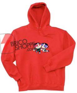 Powerpuff Girl Buttercup Kiss Hoodie - Powerpuff Hoodie - Funny Hoodie On Sale