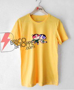 Powerpuff-Girl-Buttercup-Kiss-T-Shirt---Funny-Powerpuff-Shirt-On-Sale