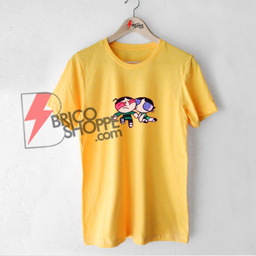 Powerpuff-Girl-Buttercup-Kiss-T-Shirt---Funny-Powerpuff-Shirt-On-Sale