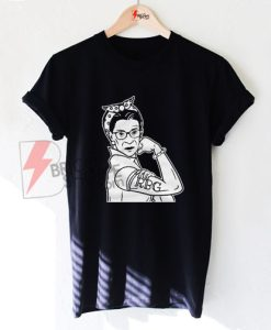 Ruth Bader Ginsburg Shirt RBG Resist Rosie the Riveter Women's T-Shirt - Funny's Shirt On Sale