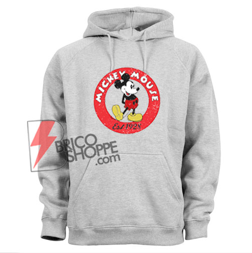 Vintage Disney Hoodie - Mickey Mouse Est 1928 Hoodie - Funny's Disney Hoodie