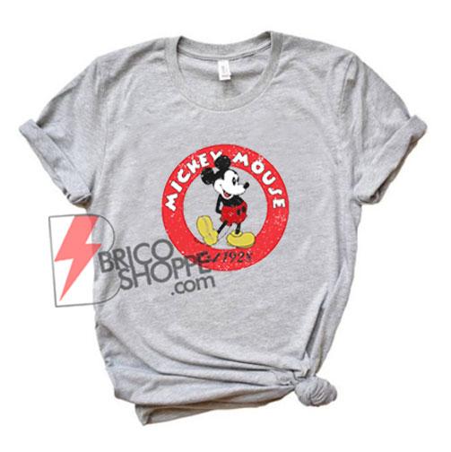 Vintage Disney Shirt - Mickey Mouse Est 1928 Shirt - Funny's Disney Shirt
