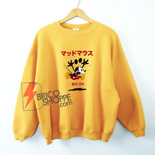 Disney Mickey Mouse Japan Sweatshirt - Funny's Sweatshirt On Sale