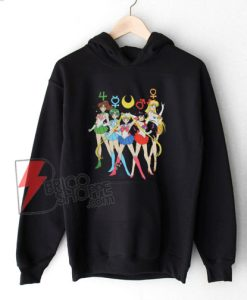 Sailor Moon Group Symbols Hoodie - Funny's Sailor Moon Hoodie