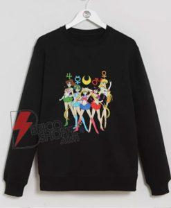 Sailor Moon Group Symbols Sweatshirt - Funny's Sailor Moon Sweatshirt
