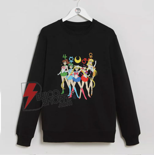 Sailor Moon Group Symbols Sweatshirt - Funny's Sailor Moon Sweatshirt