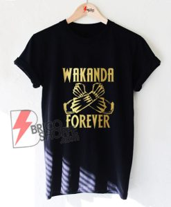 Wakanda-Forever-Salute-Gold-Shirt-Black-Panther-T-shirt