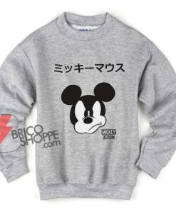 Disney Mickey Mouse Japanese Sweatshirt - Funny's Disney Sweatshirt