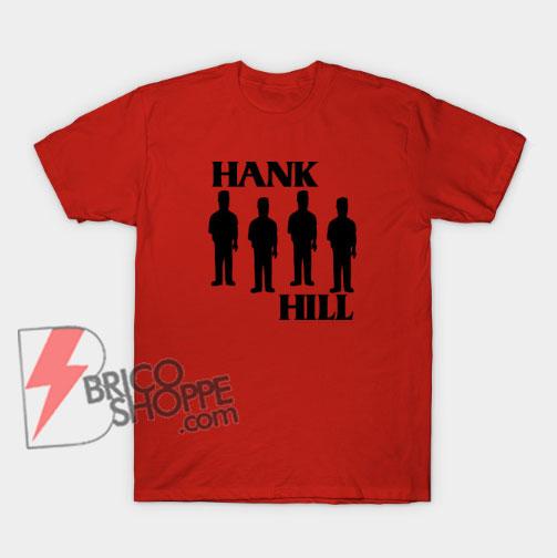 Hank Hill T-Shirt - King Of The Hill Black Flag Parody Shirt