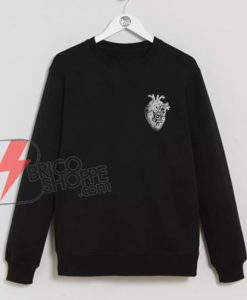 Human-heart-Sketch-Sweatshirt