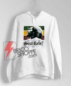 Bob Marley Soul Rebel Rasta Flag Hoodie - Funny's Hoodie On Sale