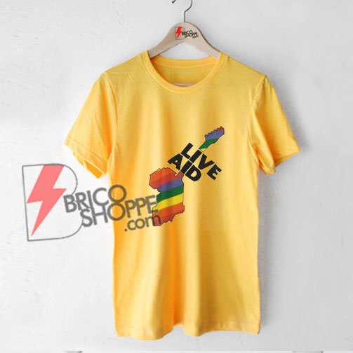 Live-Aid-T-shirt--Funny's-Shirt-On-Sale