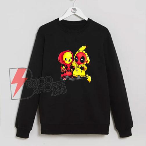 Pikapool-Pikachu-Pokemon-and-Deadpool-Sweatshirt