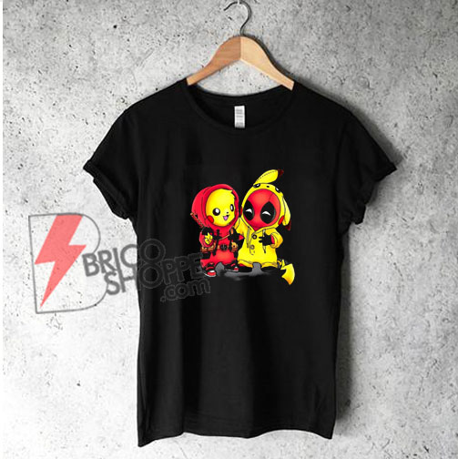 Pikapool-Pikachu-Pokemon-and-Deadpool-shirt
