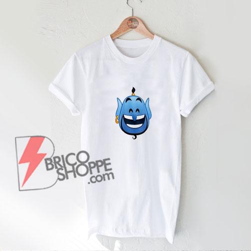 Disney Aladdin Happy Smile Grin Genie Cartoon Emoji Shirt - Funny Shirt On Sale