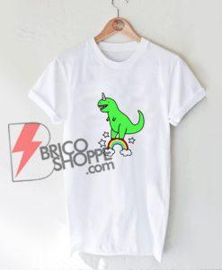 Funny Dino Unicorn Rainbow Shirt - Funny's Shirt On Sale