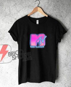 MTV pink logo T-Shirt - Funny's Shirt On Sale