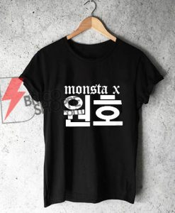 Monsta X Wonho Name T-Shirt - Funny's Kpop Shirt - Funny's Shirt On Sale