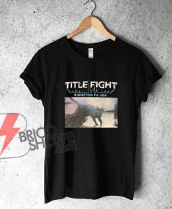 Title Fight - Black Cat T shirt - Funny's Shirt On Sale