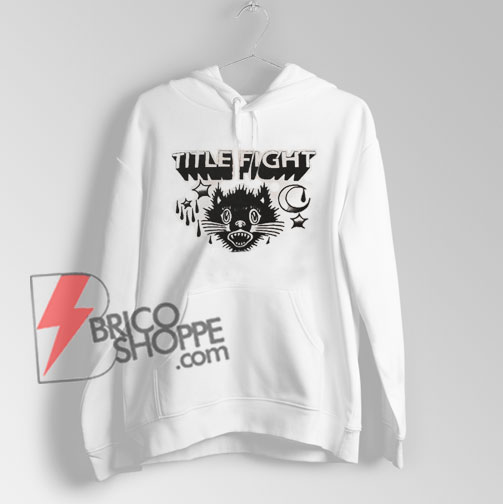 Title fight cat hipster Hoodie – Funny's Hoodie On Sale