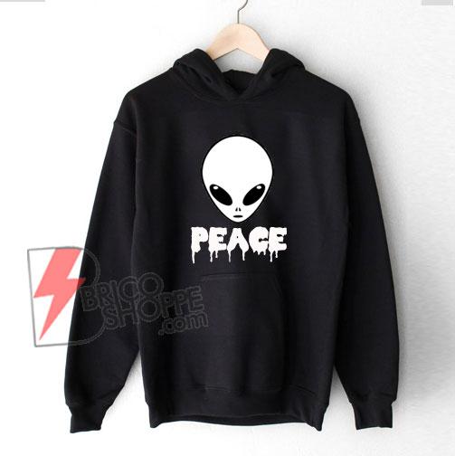 Alien Peace Hoodie – Funny's Alien Hoodie - Funny's Hoodie On Sale